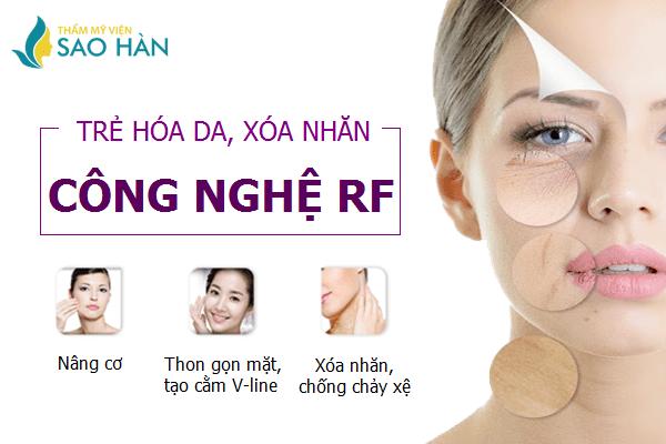 Điều trị lão hóa da, xóa nhăn bằng công nghệ RF
